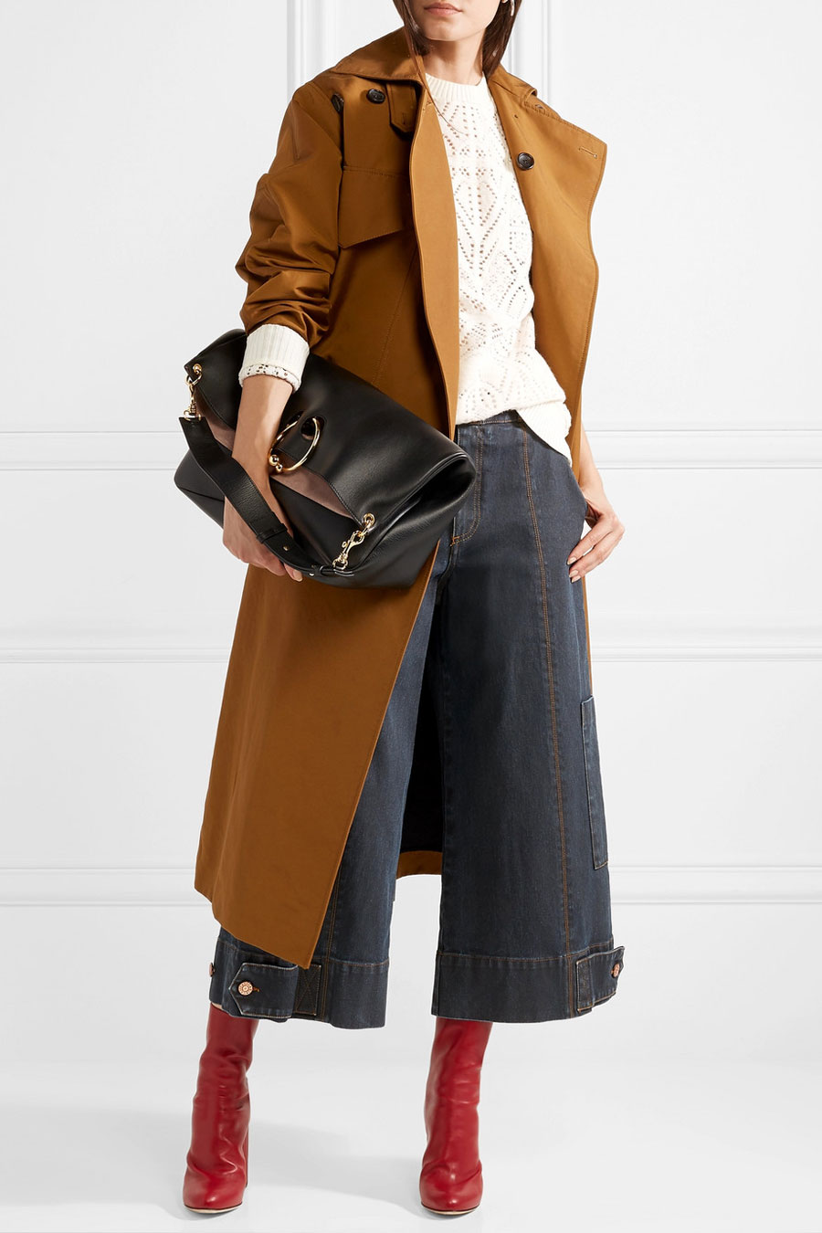 SEE BY CHLOE Cropped High-rise Wide-leg Jeans
