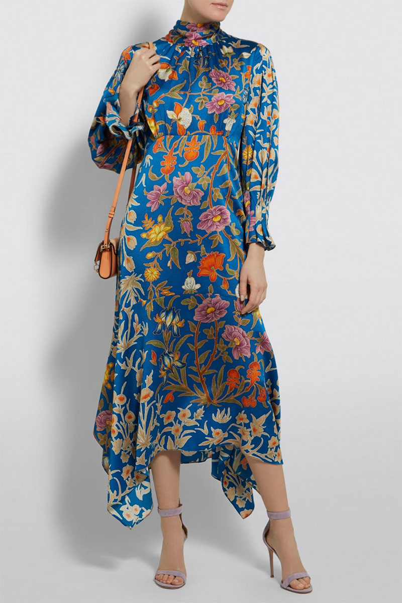 Peter Pilotto Scarf Neck Midi Dress