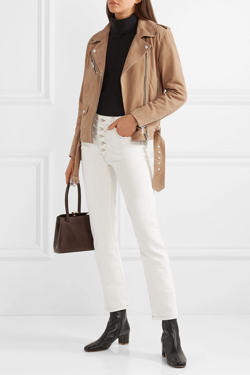 STAND Polly Suede Biker Jacket