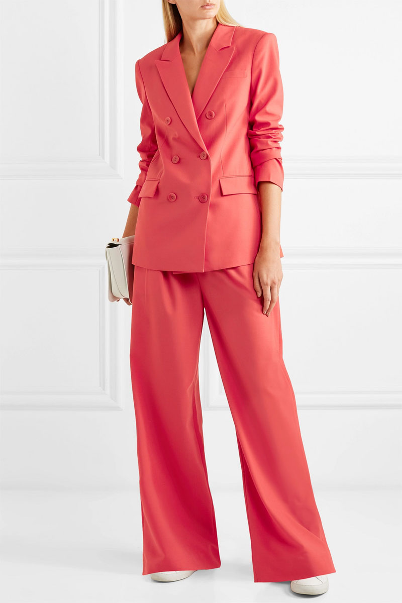 TIBI Steward Double-breasted Crepe Blazer