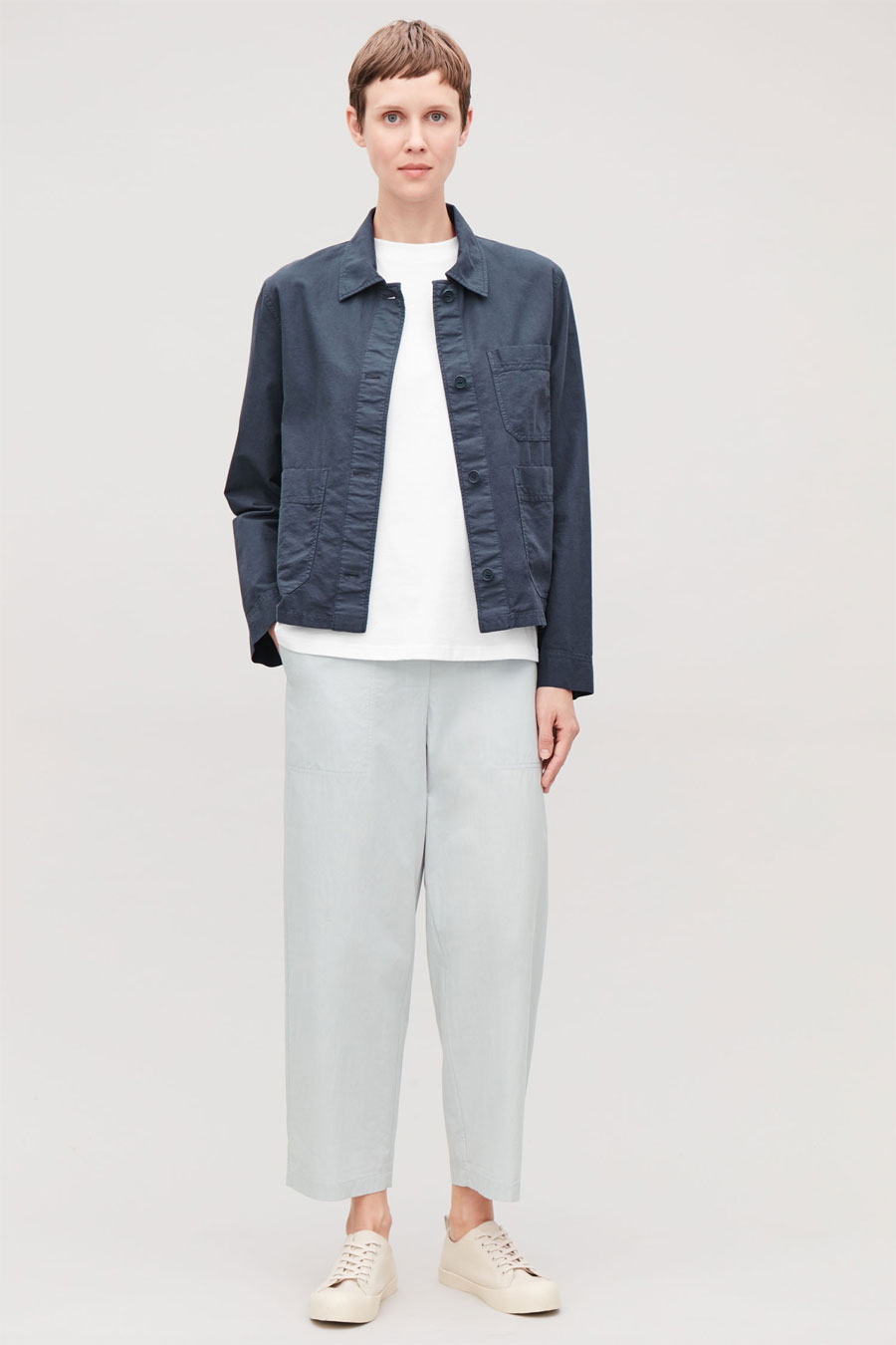 COS Topstitched Shirt Jacket