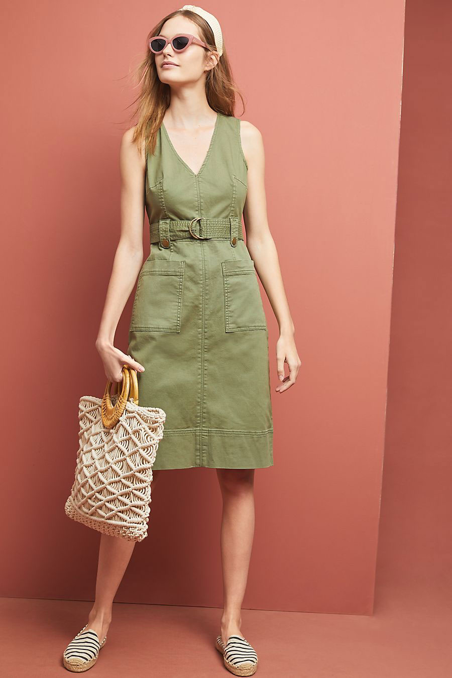 Anthropologie Oona Utility Dress