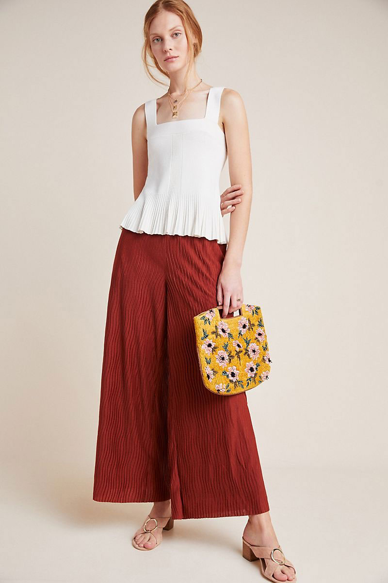 Anthropologie Delano Knit Wide Leg Pants