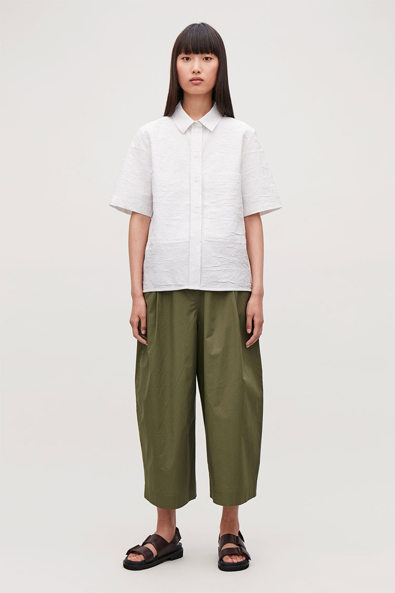 COS Voluminous Cropped Trousers