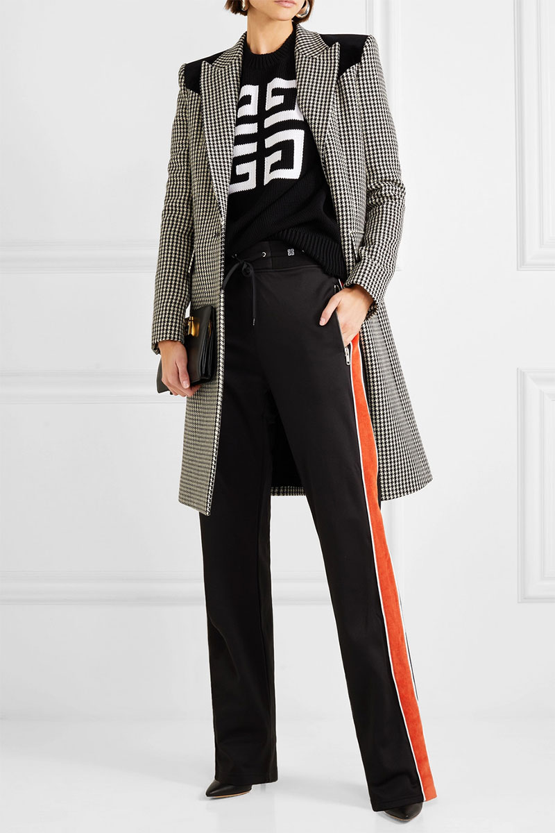 GIVENCHY Striped Neoprene Track Pants