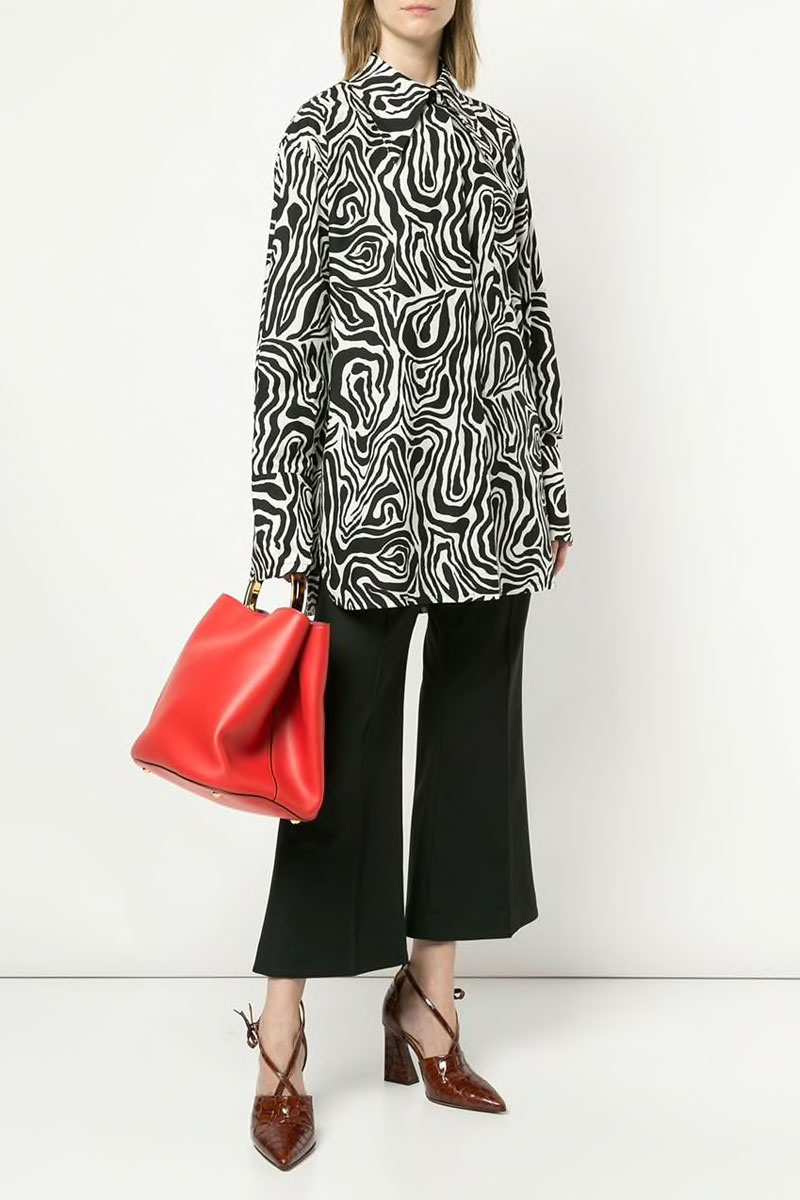MARNI Zebra Print Long Shirt