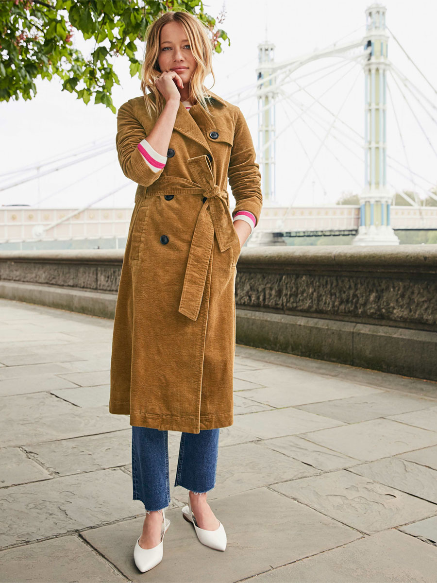 Boden Markham Cord Trench Coat