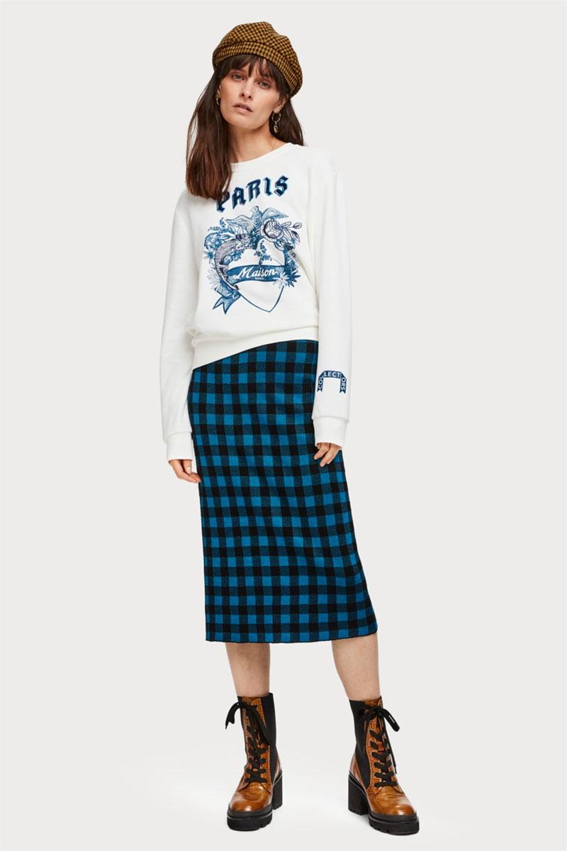 Scotch & Soda Mixed Artwork Sweatshirt