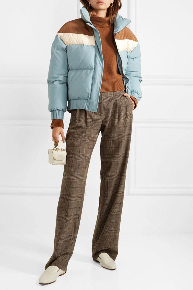 REJINA PYO Veste à capuche matelassée avec des blocs de couleurs Otis