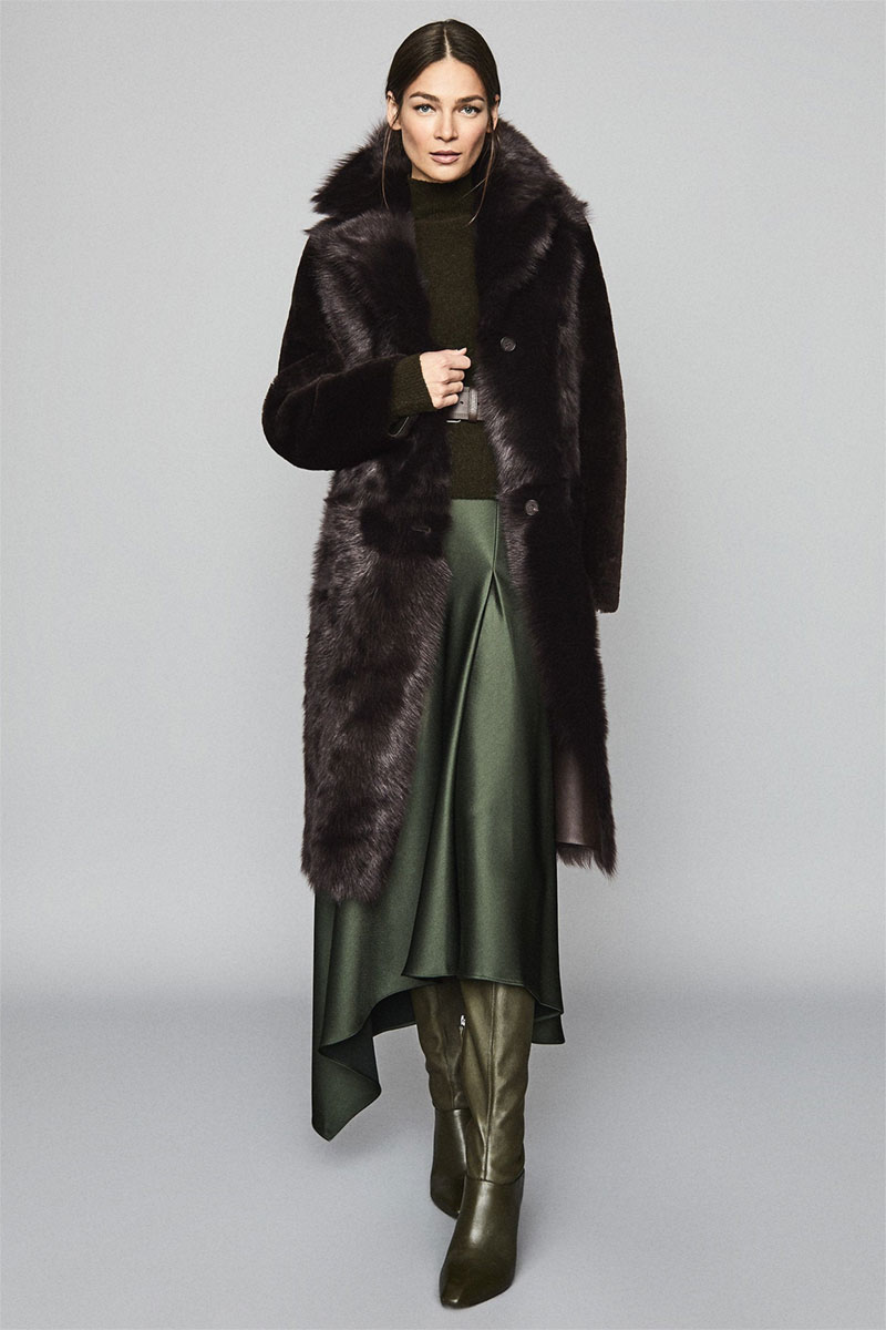 Darcy Reversible Longline Shearling Coat