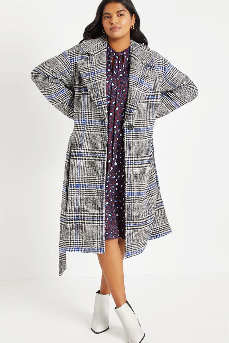 Eloquii Plaid Coat