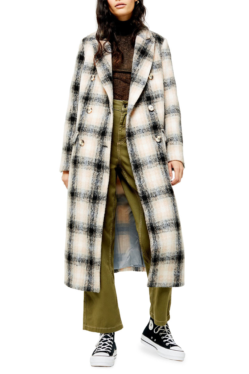 Topshop Toni Check Coat
