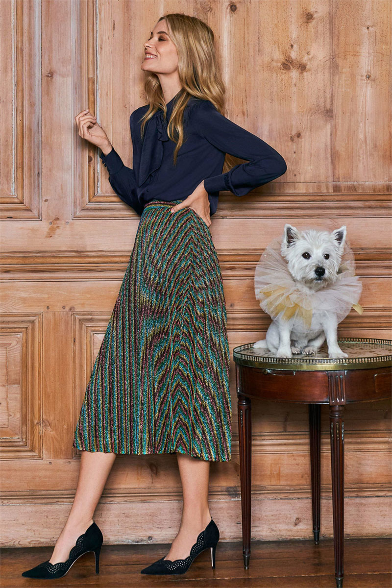 Boden Beatrice Pleated Skirt