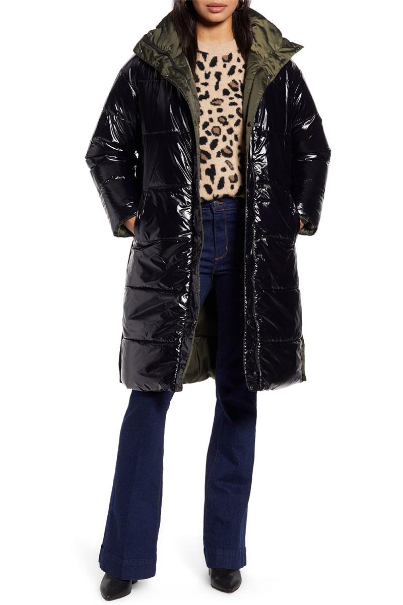 Halogen Reversible Puffer Coat