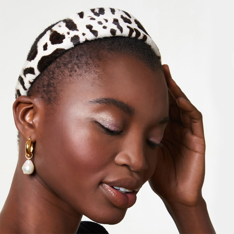 House Account Safari Headband In Black And White