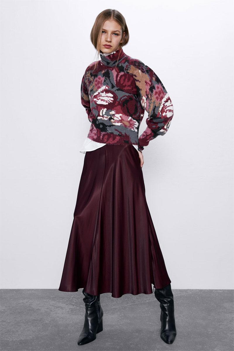 Zara Satin Skirt