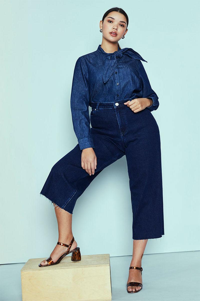 Eloquii High Waisted Crop Jean