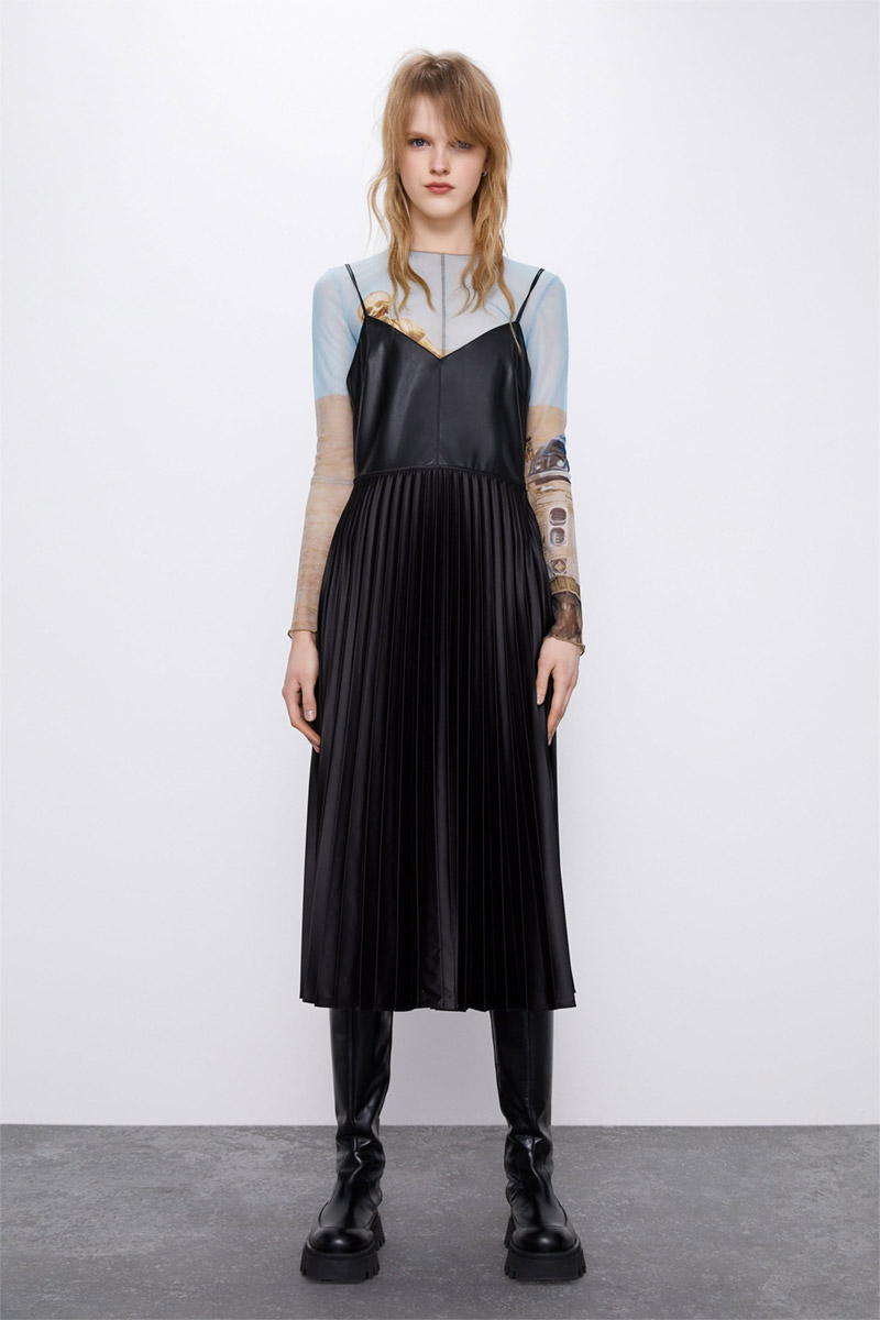 Zara Pleated Dress