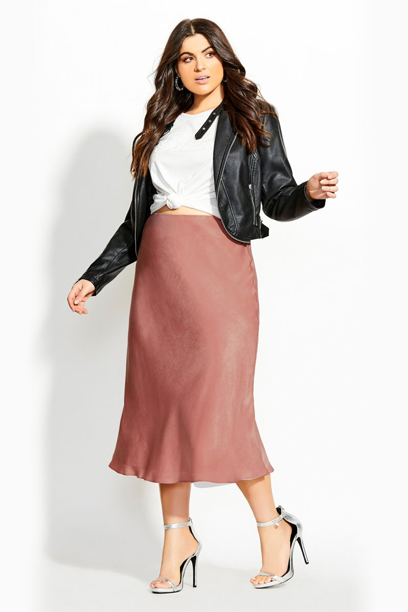 City Chic Bias Cut Skirt