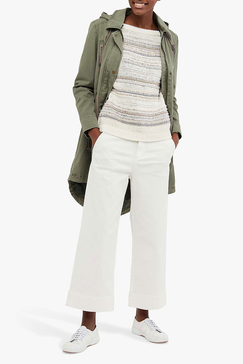 White Stuff Thea Wide-Leg Cropped Trousers