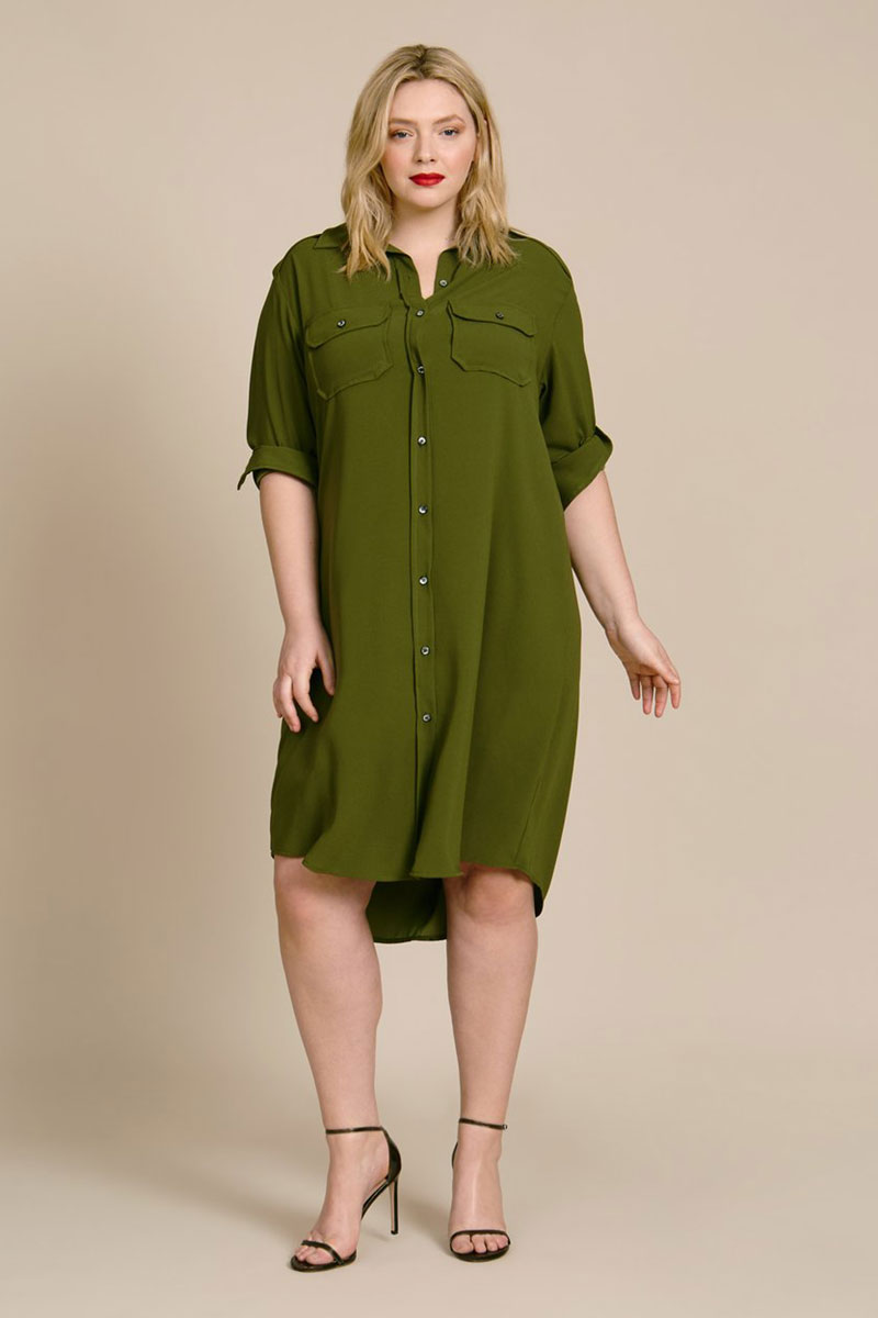 BAACAL Epaulette Shirt Dress