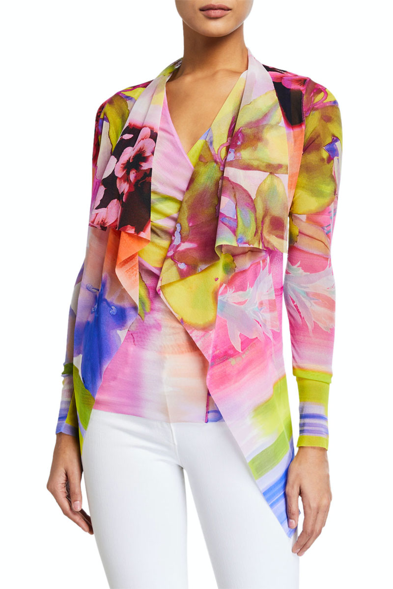 Fuzzi Draped Cardigan