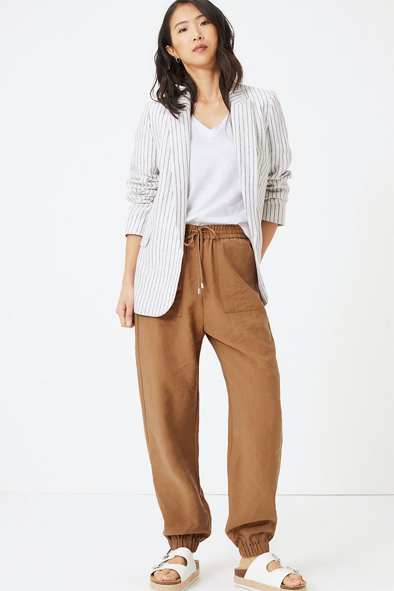 M&S Collection Tencel Utility Tapered Trouser