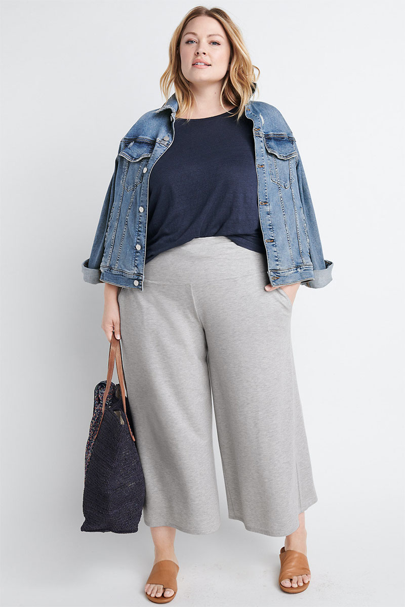 Ryllace Wide-Leg Cropped Knit Pant