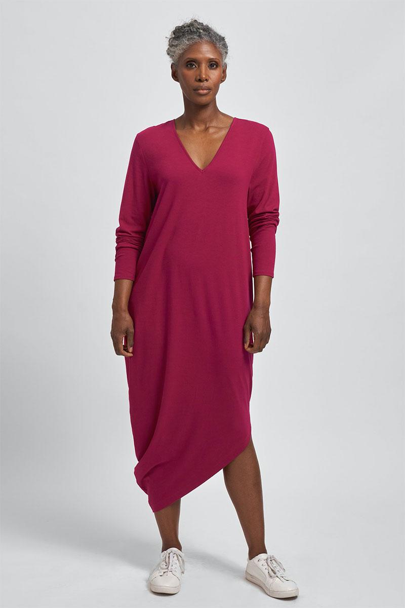 Universal Standard Long Sleeve V-Neck Geneva Dress