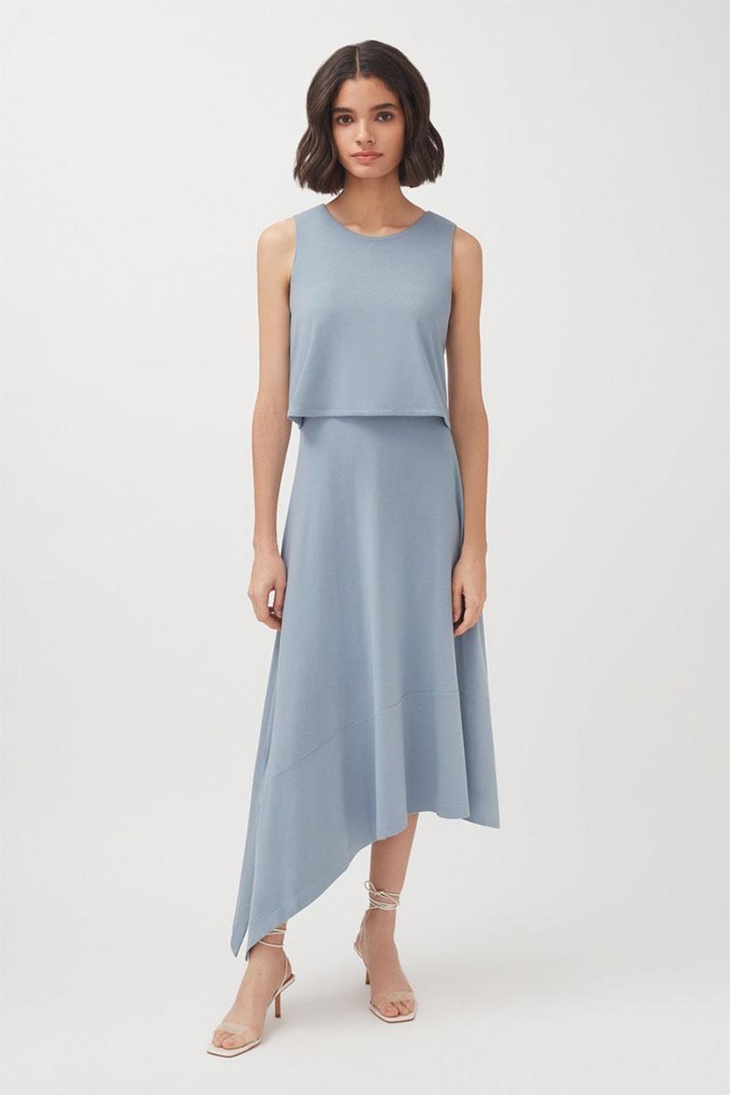 Cuyana Asymmetrical Overlay Dress
