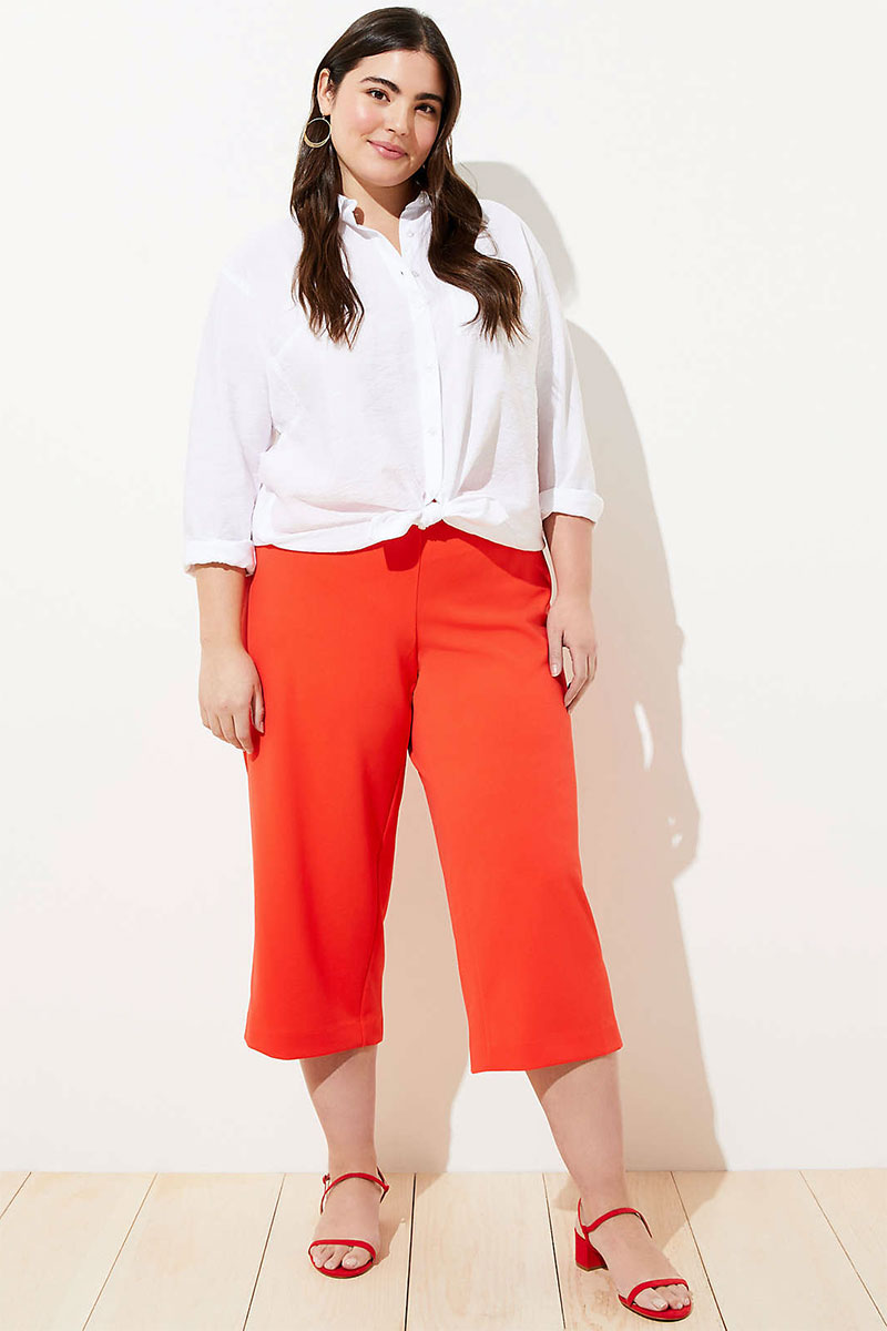 LOFT Plus Pull On Wide Leg Pants