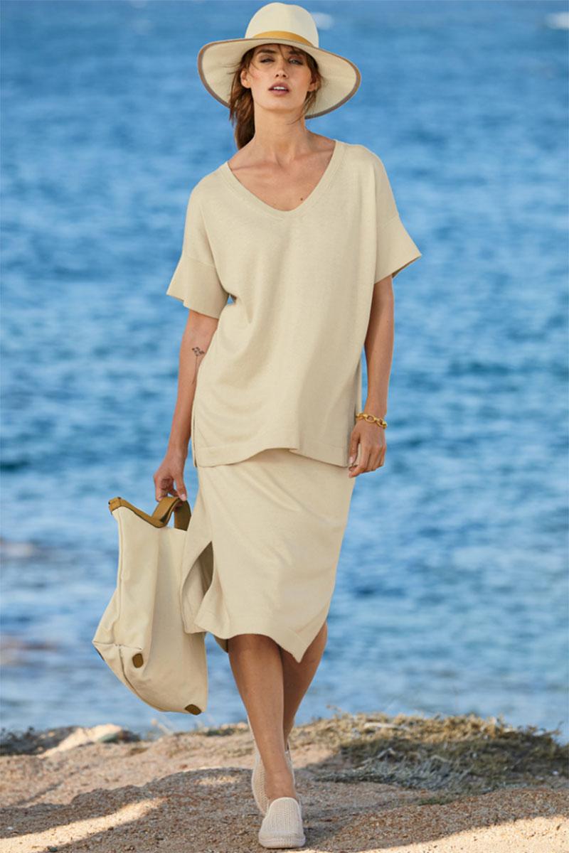 Peruvian Connection Tangier Pima Cotton Skirt