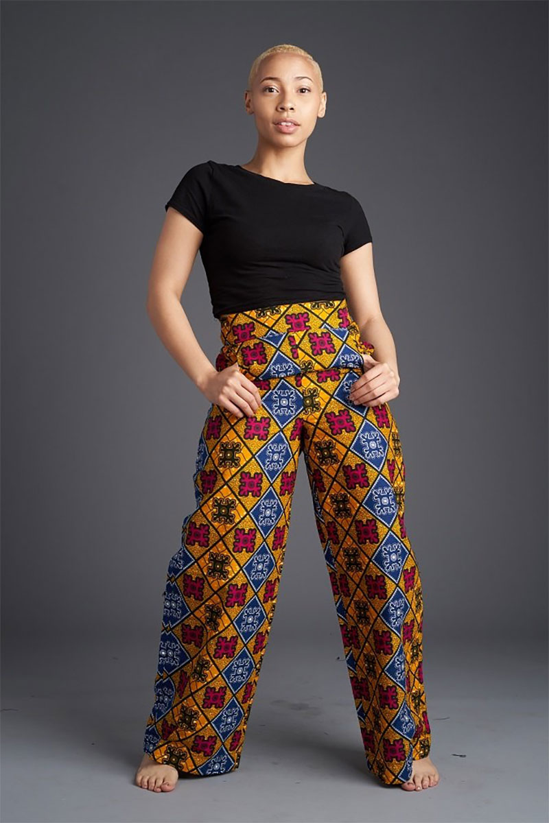 Ray Darten Jani African Print Pants