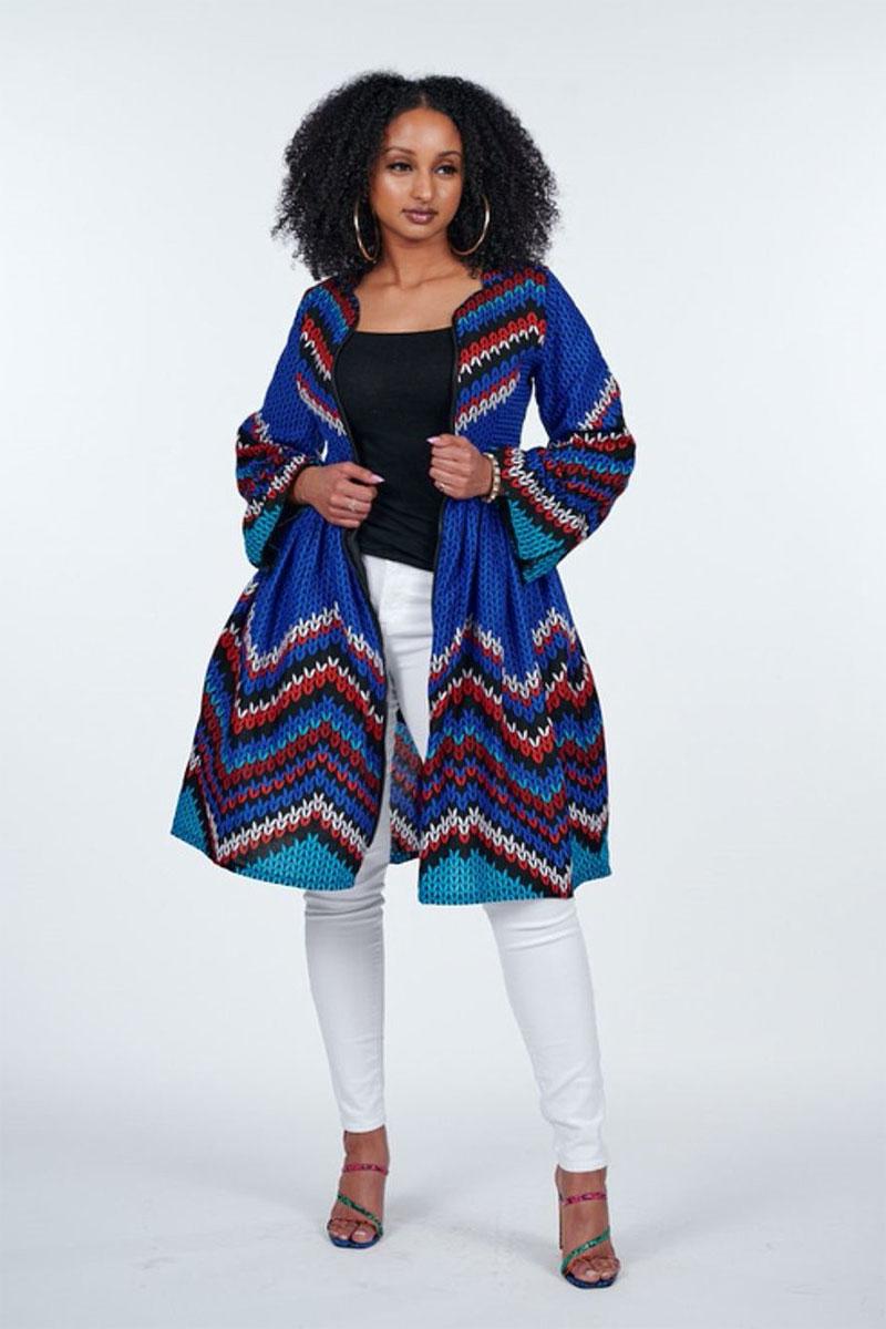 Ray Darten Motun African Print Jacket Dress