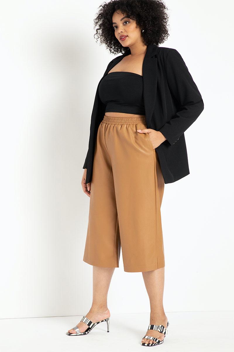Eloquii Faux Leather Culotte