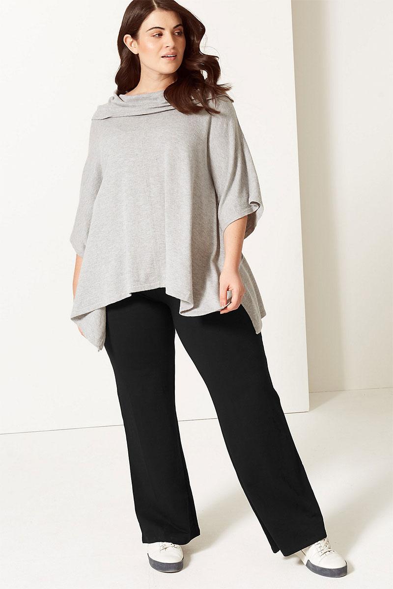 M&S Collection CURVE Cotton Straight Leg Joggers