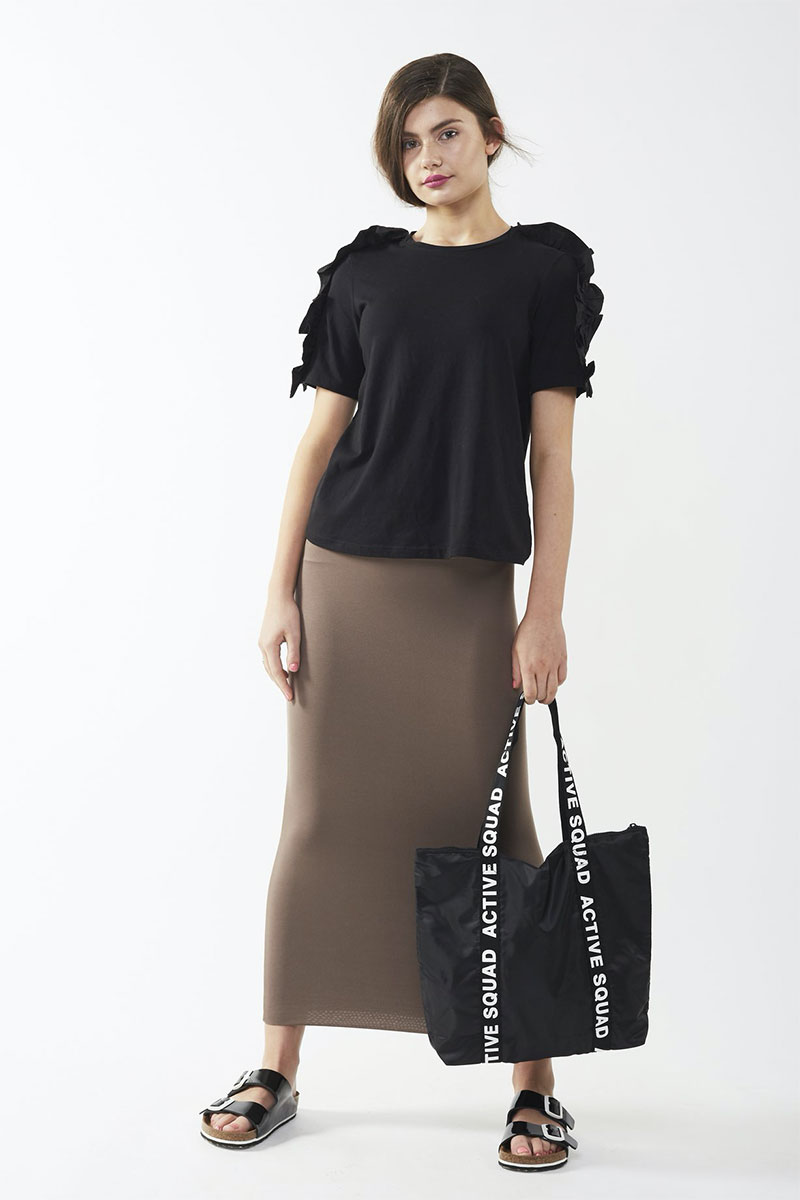 Modestiq Midi/long Tube Skirt Olive Taupe