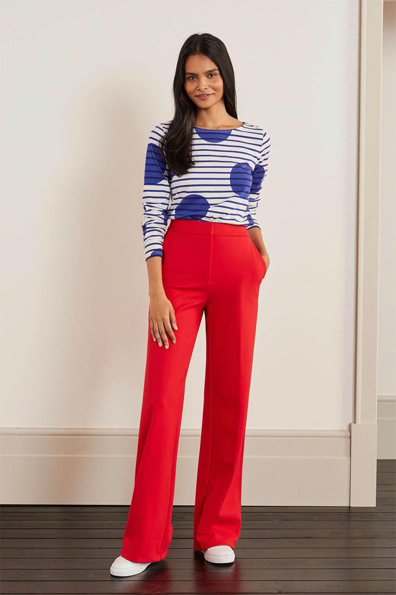 Boden Hampshire Ponte Wideleg Pants