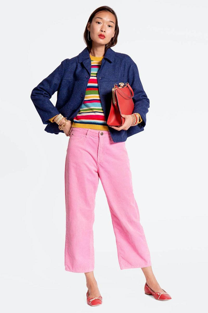 Frances Valentine Jane Corduroy Pant Pink