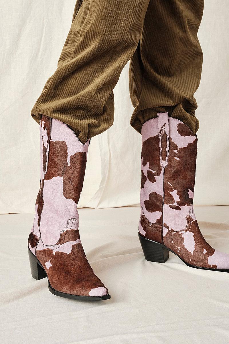 Free People Dagget Printed Western Boot