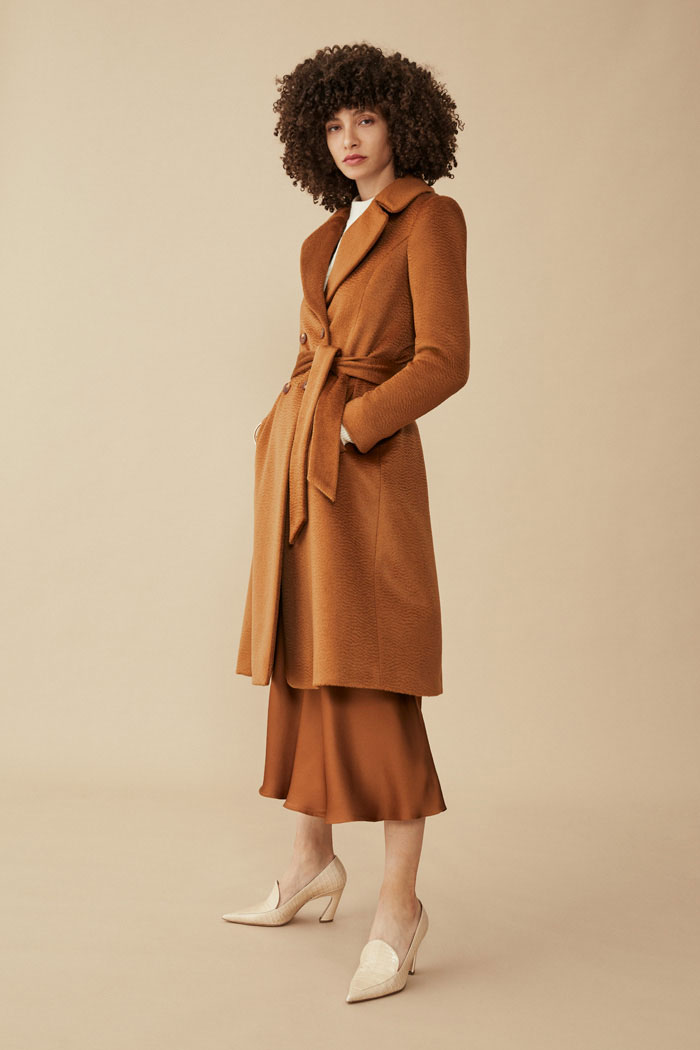 The Fold Aldwych Coat Camel Premium Wool