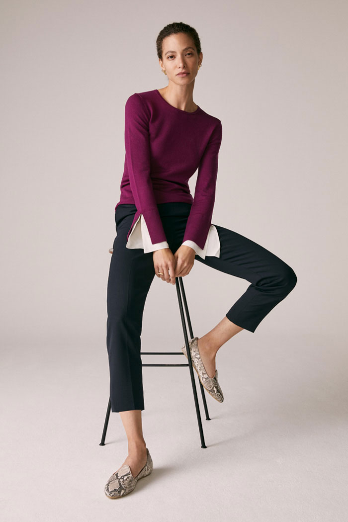 The Fold Kielder Sweater Dark Magenta Merino