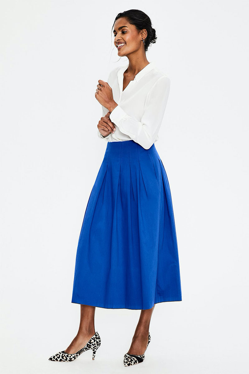 Boden Theodora Pleated Skirt