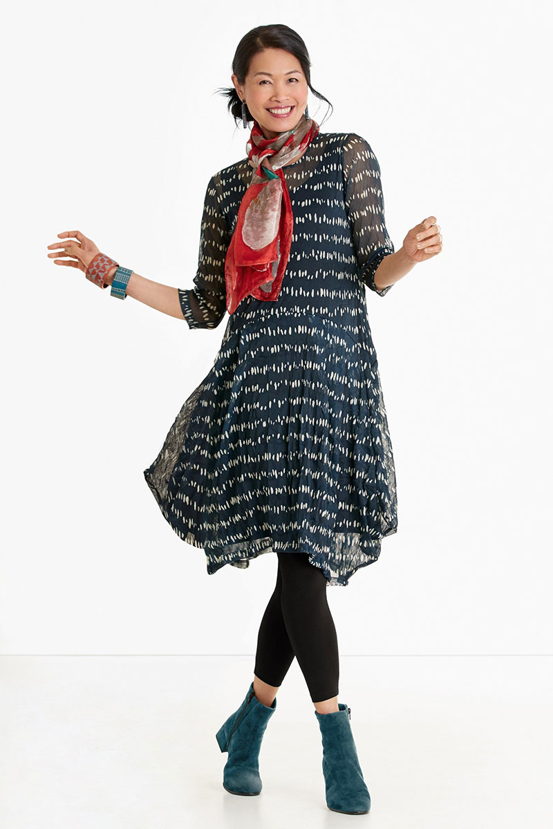 Lisa Bayne Erte Mesh Dress
