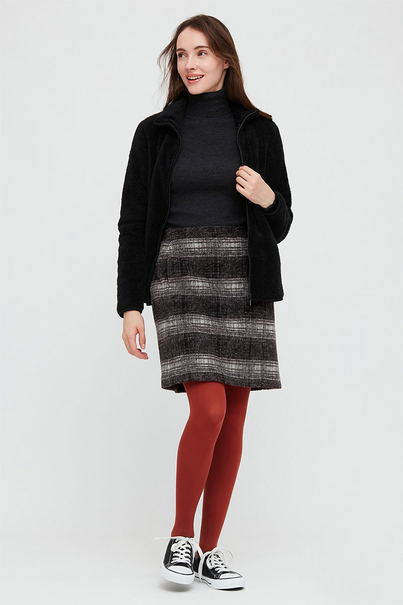 Uniqlo Wool Blend Mini Skirt