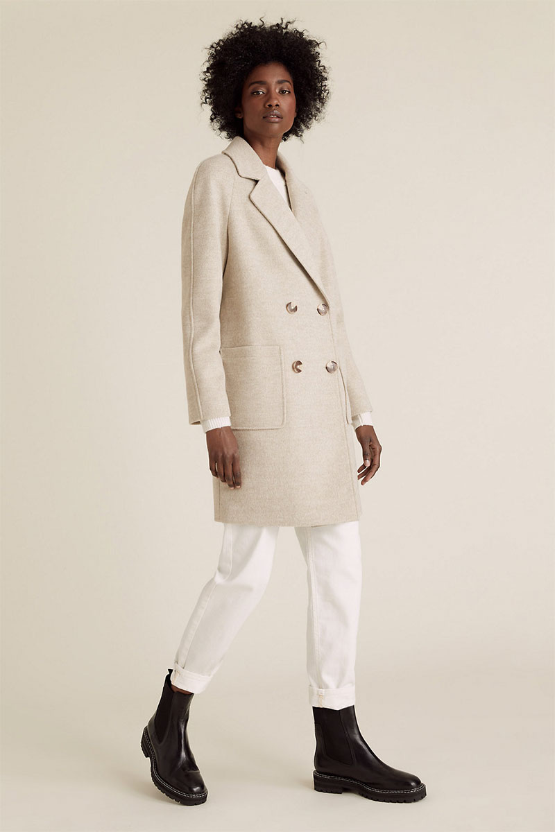 M&S COLLECTION Double Breasted Coat