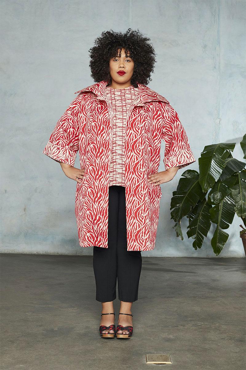 Pari Passu Hillary Jacquard Zebra Coat
