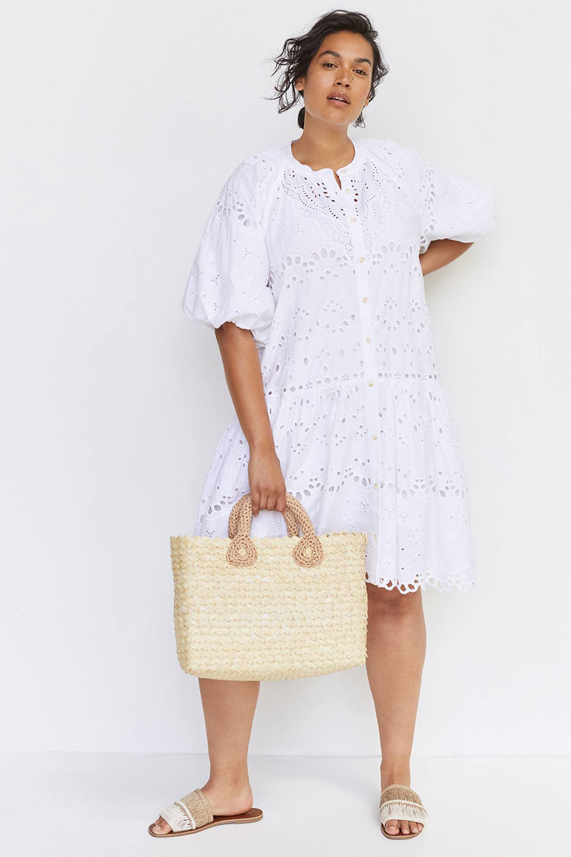 Textured White Frock
