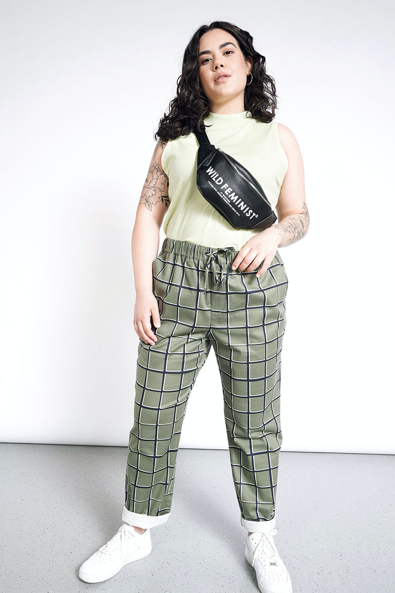 Wildfang The Essential Windowpane Drawstring Pant