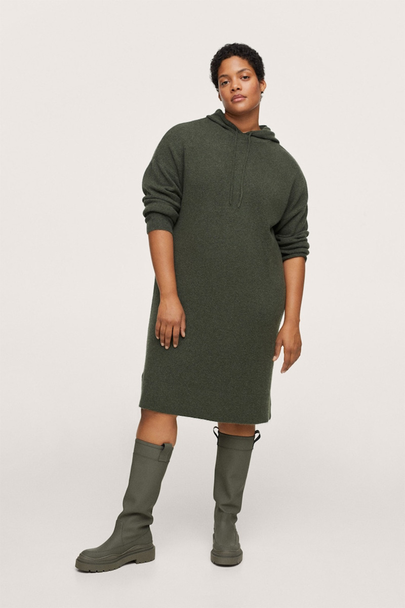 Casual Dress and Tall Flat Boots